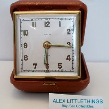 vintage Clinton travel alarm clock Germany