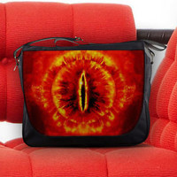 The Lord Of The Rings The Eye Of Sauron Nylon Messenger Sling Notebook Bag