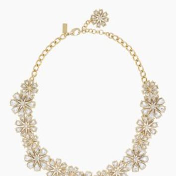 clear as crystal short floral necklace - kate spade new york
