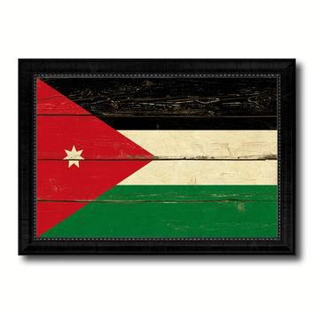Jordan Country Flag Vintage Canvas Print with Black Picture Frame Home Decor Gifts Wal