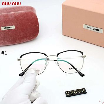 MIUMIU 2018 new retro metal glasses frame large box square flat mirror #1