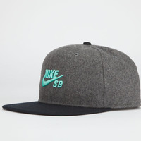 Nike Sb Mens Snapback Hat Grey One Size For Men 22530311501