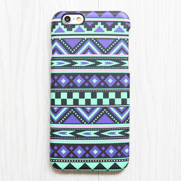 Violet Green Tribal iPhone 6s case iPhone 6 plus Ethnic iPhone 5S 5 iPhone 5C iPhone 4S Case Aztec Samsung Galaxy S6 edge S6 S5 S4 Case 084