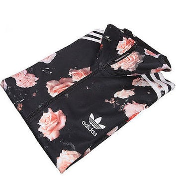 adidas rose flower track top