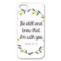 diycover iPhone 5 5S Case - Christian Theme - Psalm 46:10 - Best Durable Cover Case