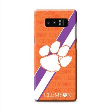 Clemson Tigers logo repeat Samsung Galaxy Note 8 case