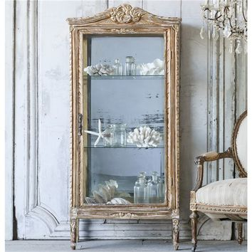 Eloquence One of a Kind Vintage Vitrine Distressed Gilt