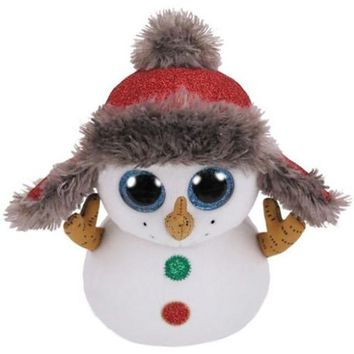 Ty Beanie Boos Big Eyes Plush Toy Doll Child Brithday 15cm SnowMan Dog Fish Fox Dragon Owl Pig Unicorn TY Baby For Kids Gifts