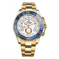 Rolex Yacht-Master Ii Yellow Gold Watch 116688 Box/Papers