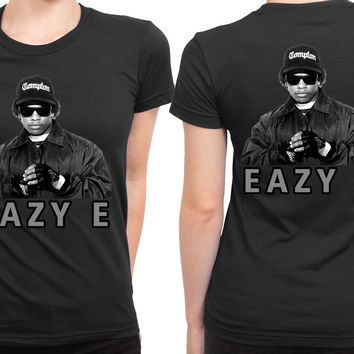 Eazy E Photo Cover Grayscale 2 Sided Womens T Shirt
