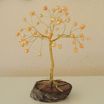 Wire tree of life,Freshwater Pearl wire tree,wire tree sculpture,tree sculpture
