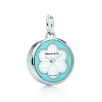 Tiffany & Co. - Blossom watch charm in stainless steel with Tiffany Blue® enamel finish.