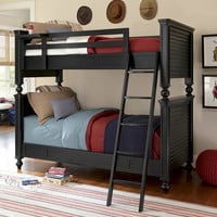 Mortimer Black Twin over Twin Bunk Bed