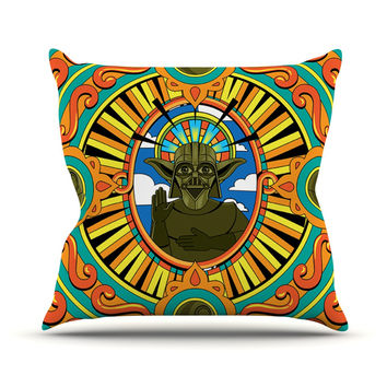 "Roberlan ""Darth Yoda"" Star Wars Throw Pillow"