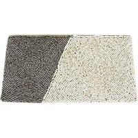 Diagonal Block Wristlet Clutch ~ Grey & Cream