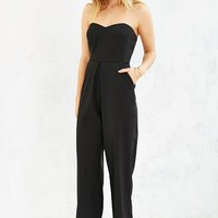 Silence + Noise Strapless Pleat-Front Jumpsuit - Urban Outfitters