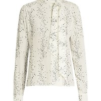 Cosmic-print silk crepe de Chine blouse | Tomas Maier | MATCHESFASHION.COM US