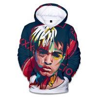 XXXTENTACION Hoodies Rapper R.I.P 3D   New Autumn Winter Hoodies Woman Man Kpop Hip Hop Pullover Harajuku Sweatshirts Plus Size