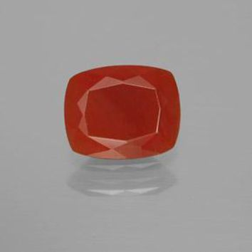 2.04 ct  Cushion-Cut Reddish Orange Fire Opal 10.5 x 8.5 mm