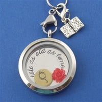 Beauty & The Beast Floating Locket Set - Spiffing Jewelry