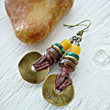 African Earrings - Boho Earrings - Boho Jewelry - African Jewelry - Hippie Earrings - Ethnic Earrings - Tribal Earrings