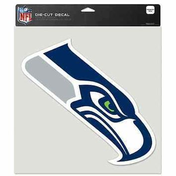 "SEATTLE SEAHAWKS LOGO 8""X8"" COLOR DIE CUT DECAL BRAND NEW WINCRAFT"