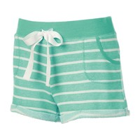 Almost Famous Juniors' Striped Shortie Shorts, Size: