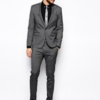 ASOS Skinny Fit Suit In Charcoal at ASOS