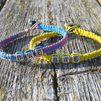 Bae Bracelets for Couples or Best Friends, BAE, Before Anyone Else, Handmade Hemp Jewelry