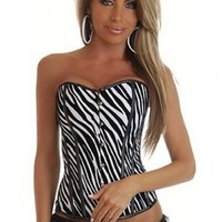 Black White Zebra Strapless Stripe Corset Intimates @ Amiclubwear Intimates Clothing online store:Lingerie,Corset,Bustier,Women's Intimates,Sexy Intimate,Corset Intimates,intimates underwear,sheer intimates,silk intimates,intimates bras,holiday underwear,