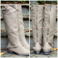 Montana Maple Beige Strap Riding Boots