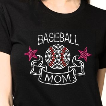 Bling T-Shirts | Women Baseball-Rhinestones-SHIRT Shop Here! ⚾