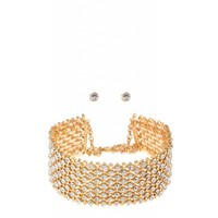 Thick Diamond Stone Choker - JLUX Label