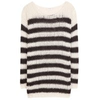 Wool and mohair-blend sweater