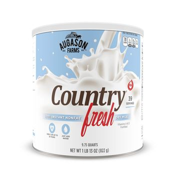 Augason Farms Country Fresh 100-percent Real Instant Nonfat Dry Milk 29 oz #10 Can
