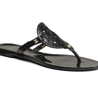 Jack Rogers Georgica Jelly Sandal- Black and Black