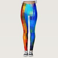 Colorful Geometry Vertical Abstraction Leggings
