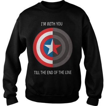 Captain America shield I with you till the end of the line shirt Sweat Shirt