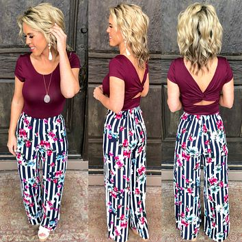 Get Twisted Top: Burgundy