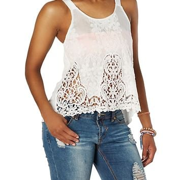 Bow Back Crochet Swing Tank