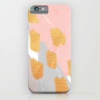 Soft Angles 2 - coral and mint abstract iPhone & iPod Case by Allyson Johnson | Society6