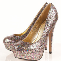 SAKURA Glitter Platforms - Heels  - Shoes