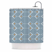 "Stephanie Vaeth ""Diamonds"" Blue Modern Shower Curtain"