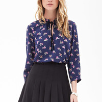 Spotted Floral Blouse