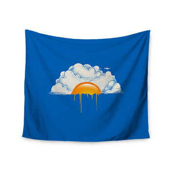 "Digital Carbine ""Breakfast"" Blue Food Wall Tapestry"