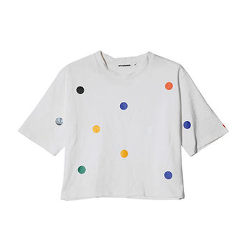 Colorful Polka Dot T-Shirt | STYLENANDA