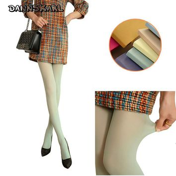 New Fashion Tights women Spring Winter 120D Velvet Women Tights Cute Female Silk Stockings Candy Color Female Pantyhose collant