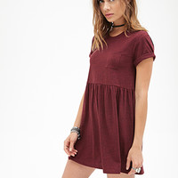 FOREVER 21 Heathered Pocket Babydoll Dress