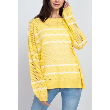 Sunny Knit Pullover Sweater