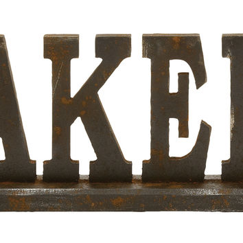 Attention Stealing Wood Bakery Sign